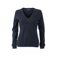 Пуловер женский JN663 Ladies' Pullover - Темно-синий меланж