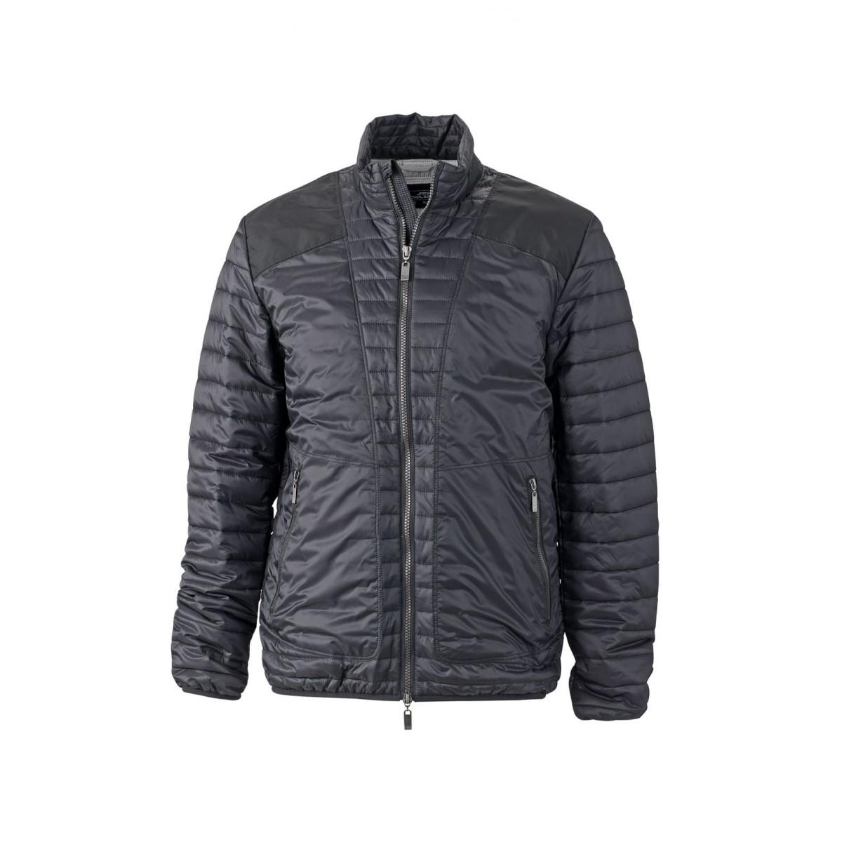 Куртка мужская JN1112 Mens Lightweight Jacket - Черный/Серебряный