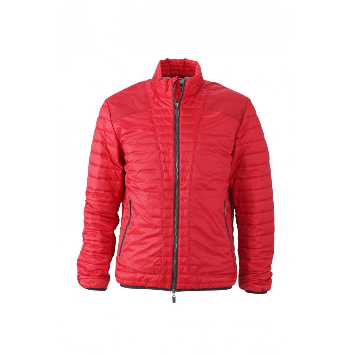 Куртка мужская JN1112 Mens Lightweight Jacket - Ярко-красный/Серебряный