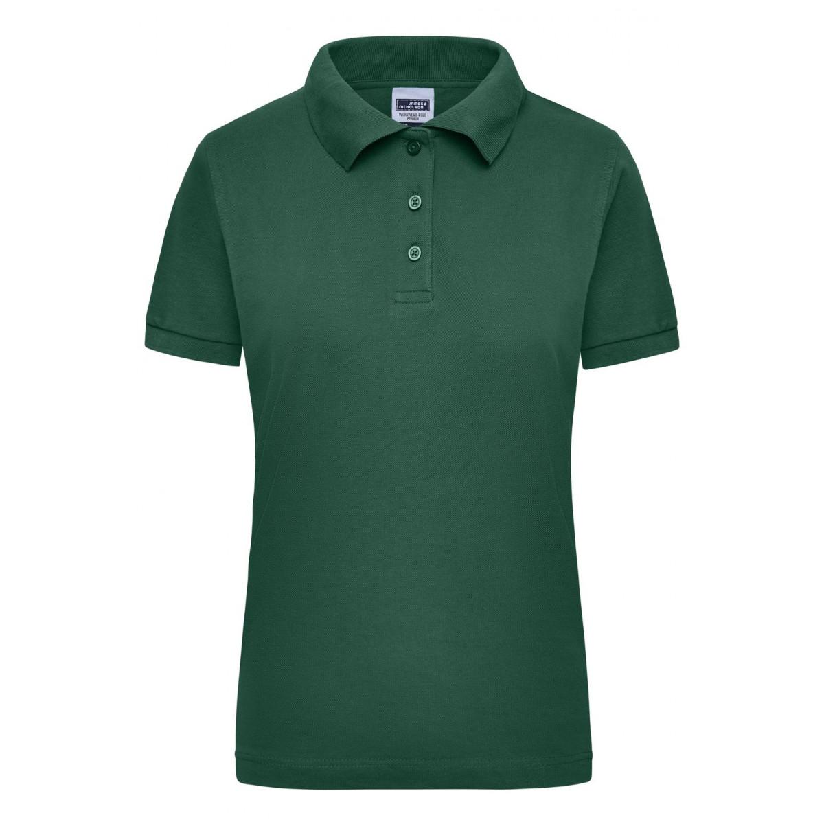 Рубашка поло мужская JN803 Workwear Polo Women - Темно-зеленый