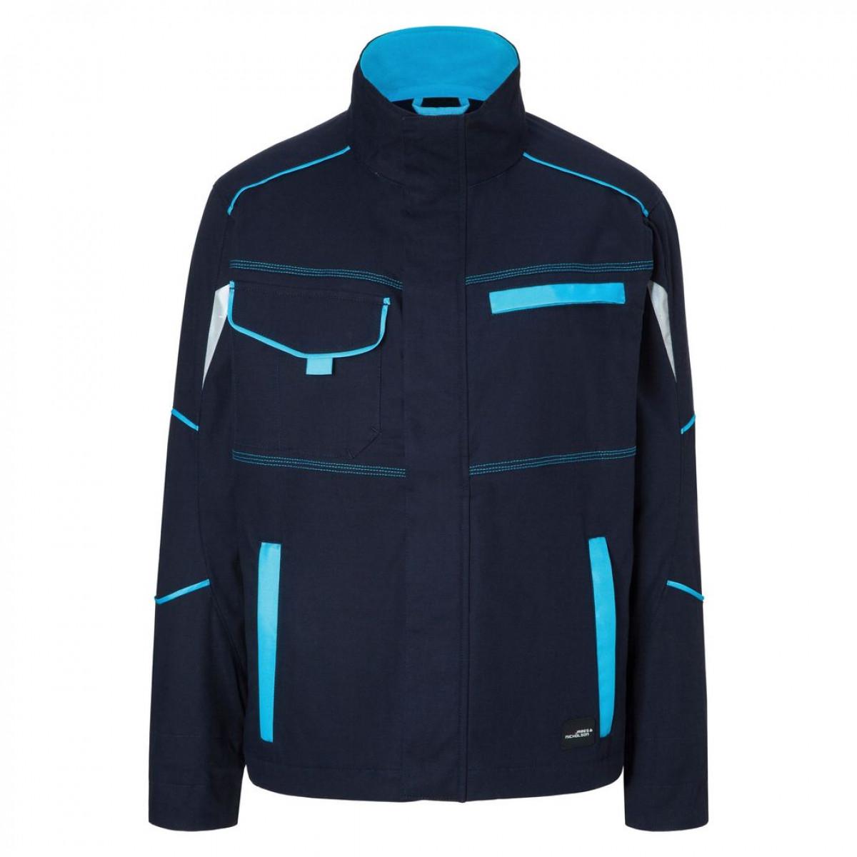 Куртка мужская JN849 Workwear Jacket - Темно-синий/Бирюзовый