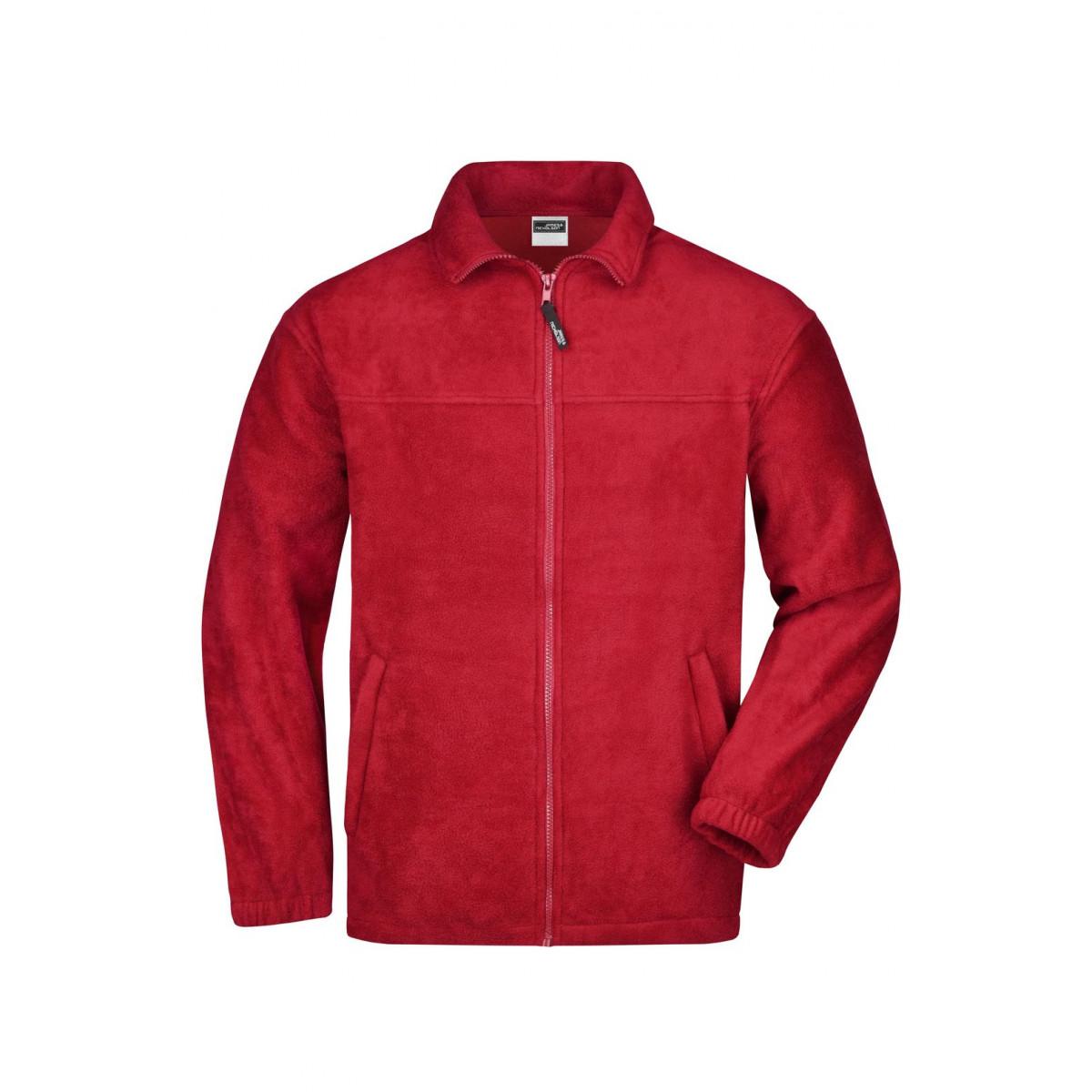 Толстовка мужская JN044 Full-Zip Fleece - Красный
