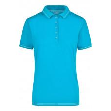 Рубашка поло женская JN568 Ladies' Elastic Polo - Аква/Белый