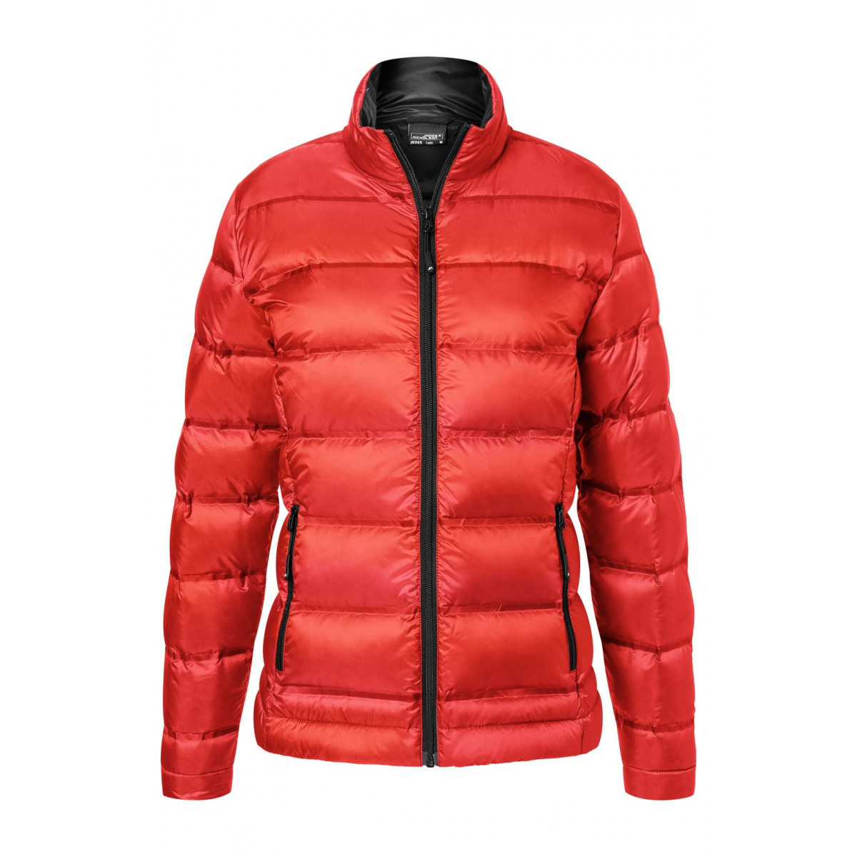 Куртка женская JN1149 Ladies Down Jacket - Ярко-красный/Черный