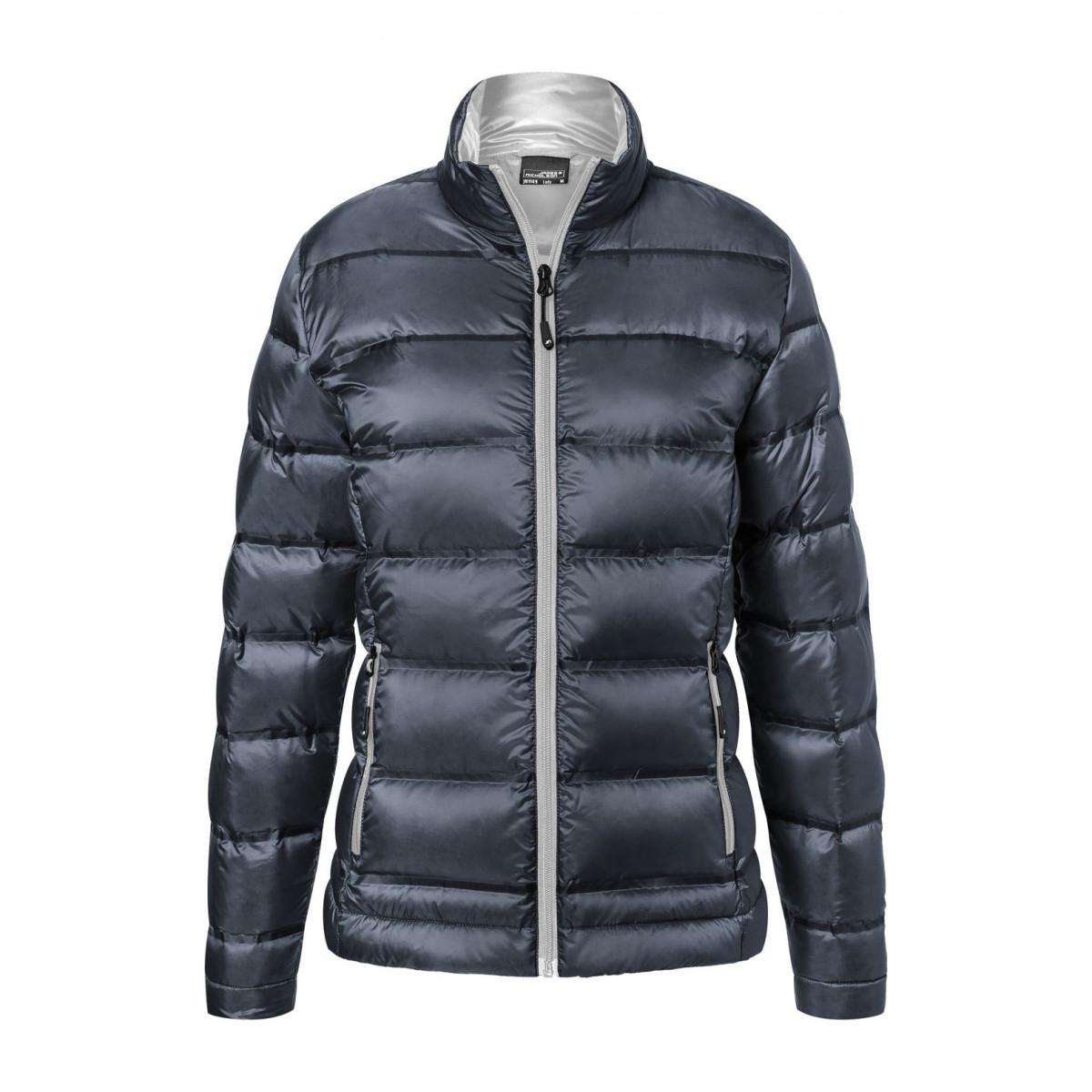 Куртка женская JN1149 Ladies Down Jacket - Темно-синий/Серебряный