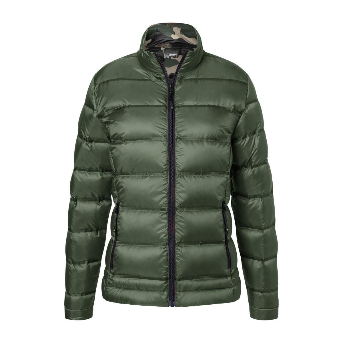 Куртка женская JN1149 Ladies Down Jacket - Оливковый/Камуфляж