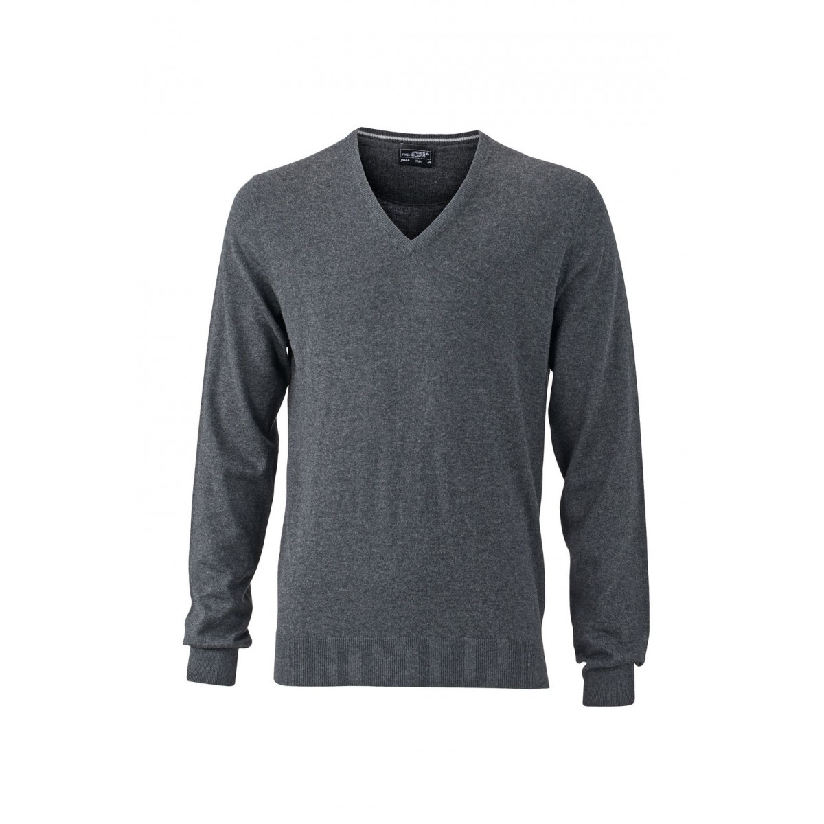 Пуловер мужской JN664 Mens Pullover - Темно-серый меланж
