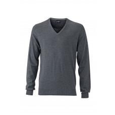 Пуловер мужской JN664 Men's Pullover - Темно-серый меланж