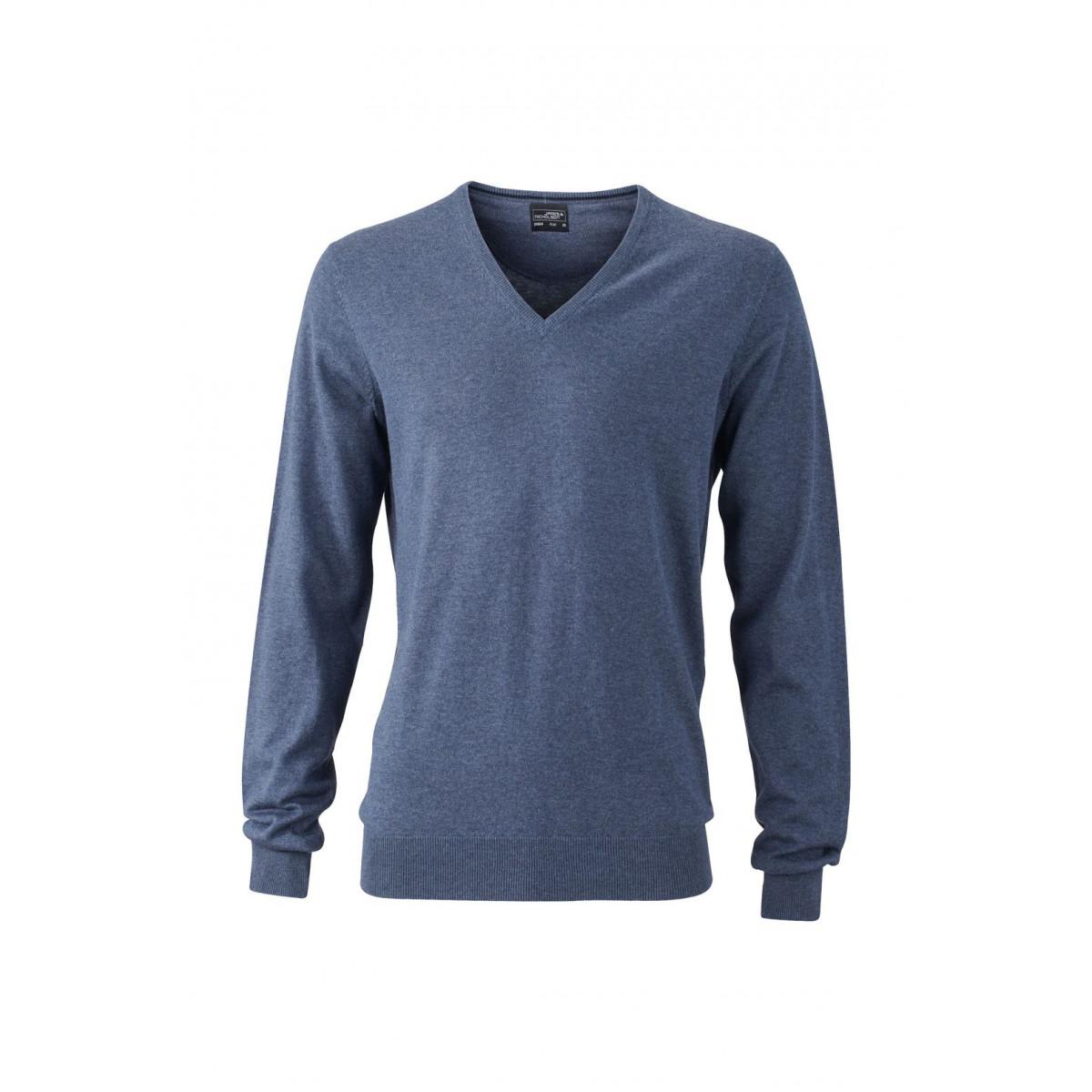 Пуловер мужской JN664 Mens Pullover - Джинс меланж