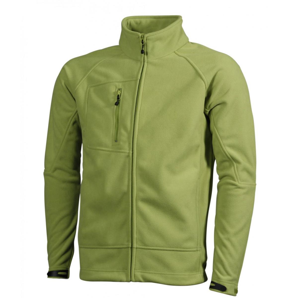Толстовка мужская JN1006 Men's Bonded Fleece Jacket - Насыщенный зеленый/Темно-синий