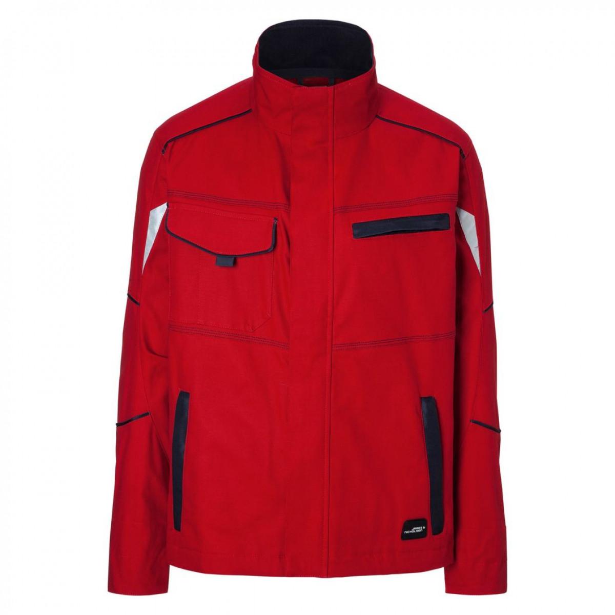 Куртка мужская JN849 Workwear Jacket - Красный/Темно-синий
