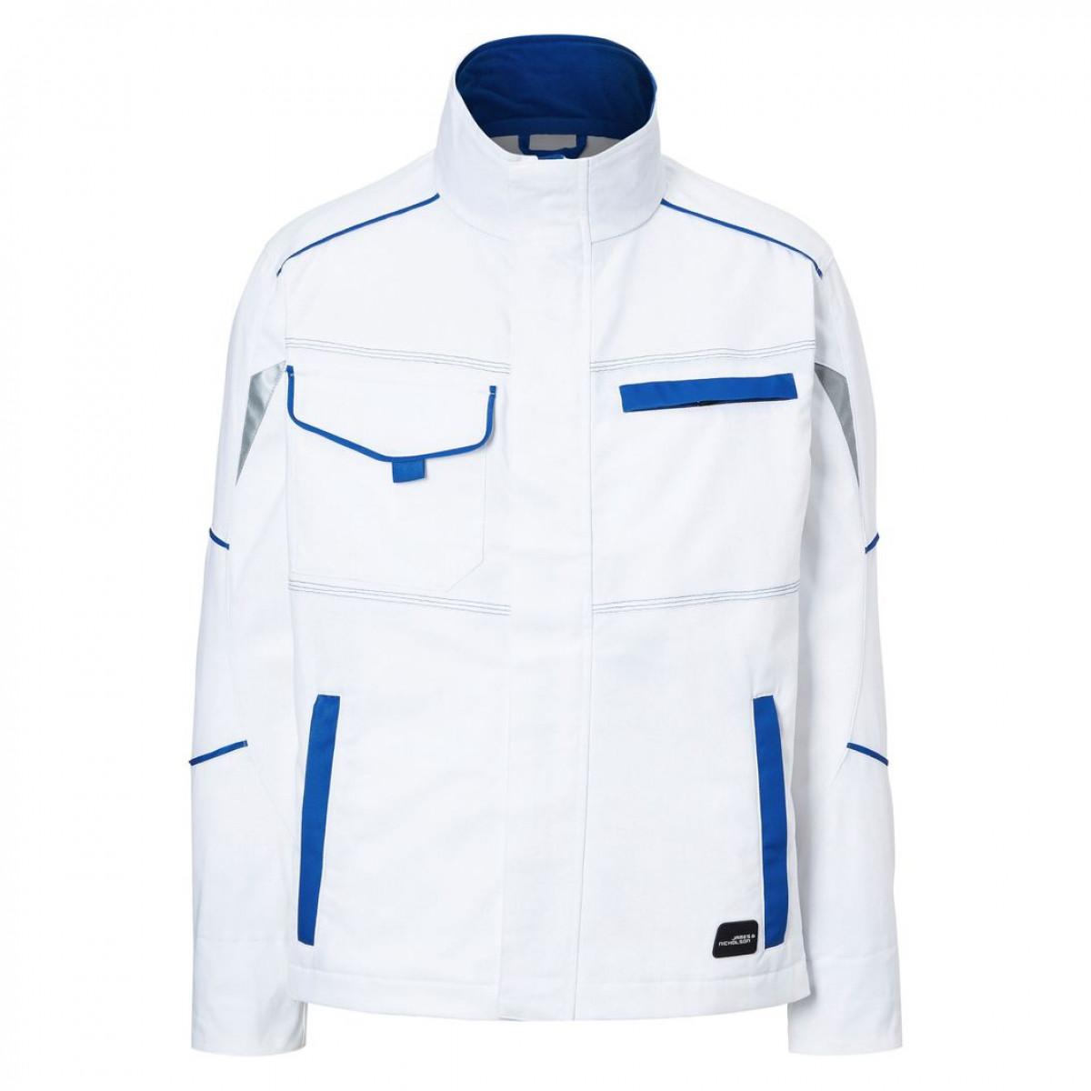 Куртка мужская JN849 Workwear Jacket - Белый/Ярко-синий
