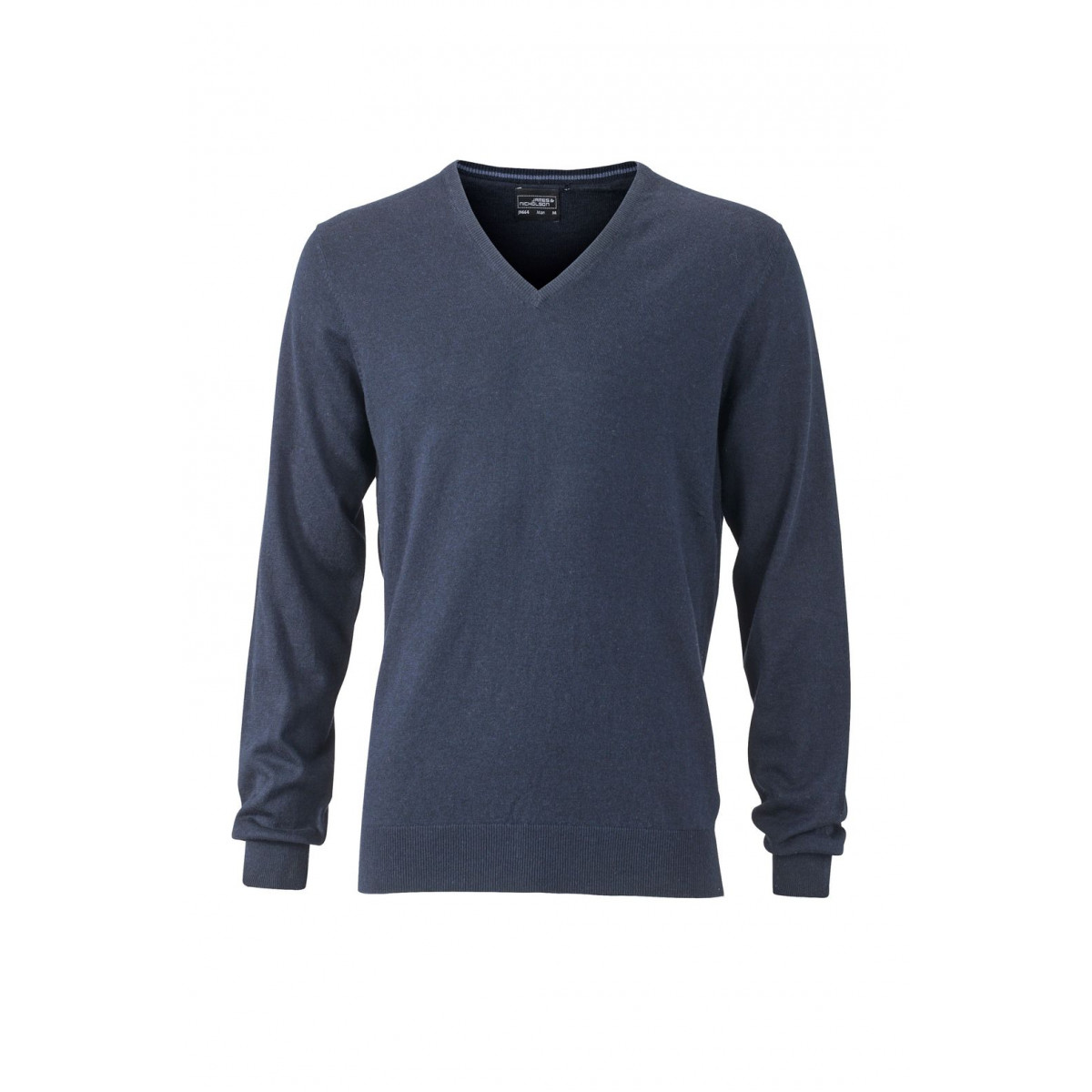 Пуловер мужской JN664 Mens Pullover - Темно-синий меланж