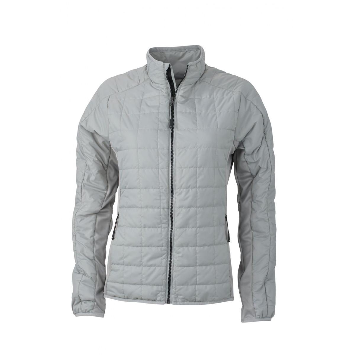 Куртка женская JN1115 Ladies Hybrid Jacket - Серебряный/Серебряный