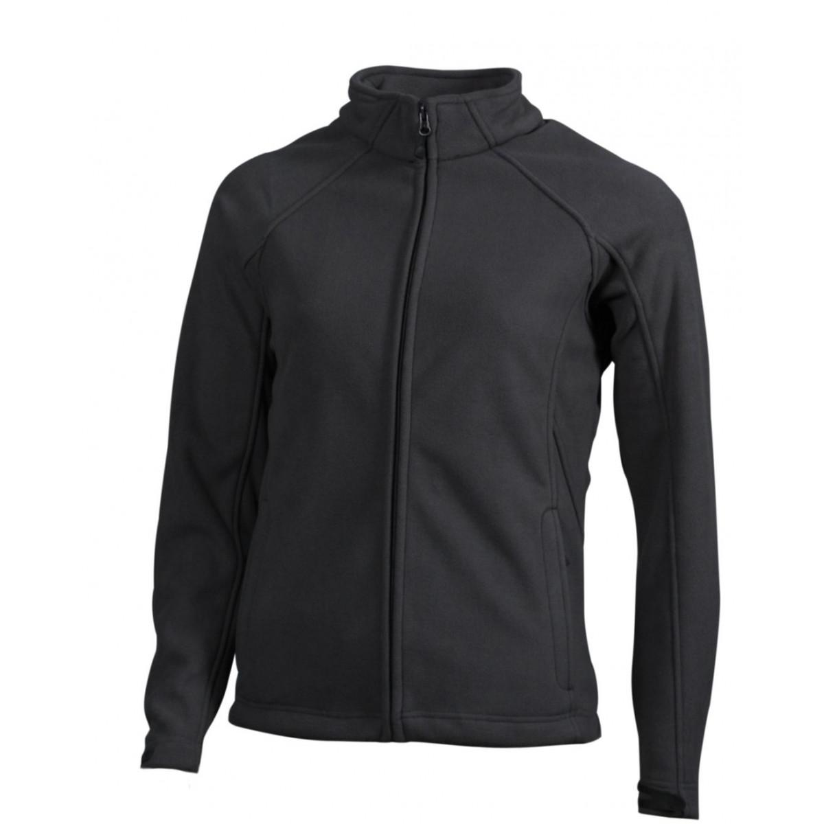 Толстовка женская JN1007 Ladies  Bonded Fleece Jacket - Карбон/Черный