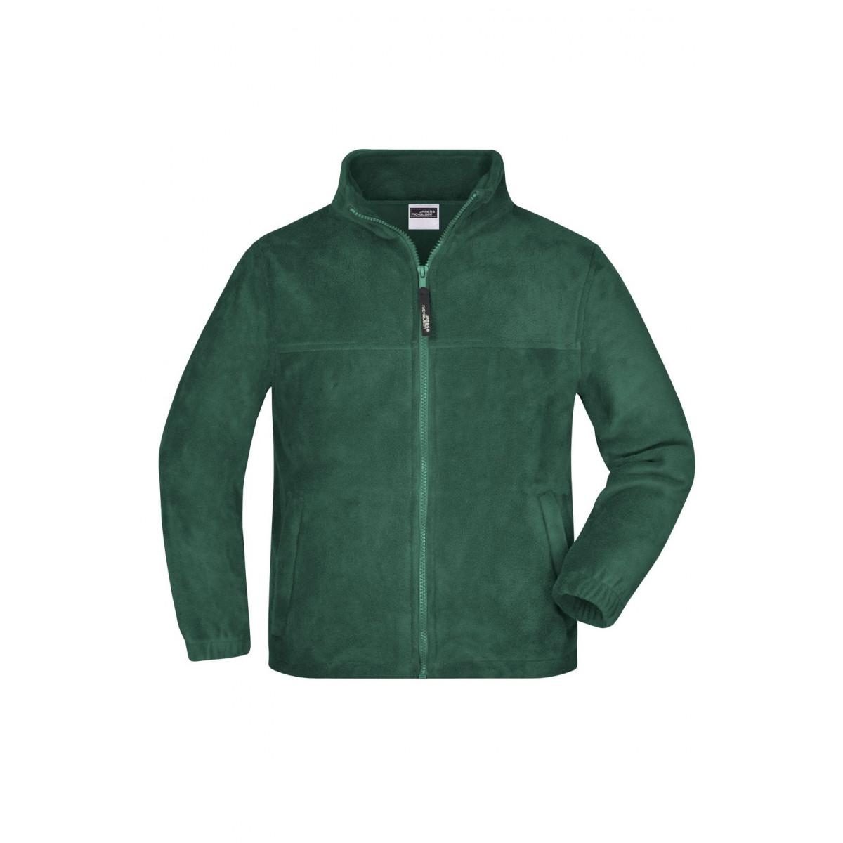 Толстовка детская JN044K Full-Zip Fleece Junior - Темно-зеленый