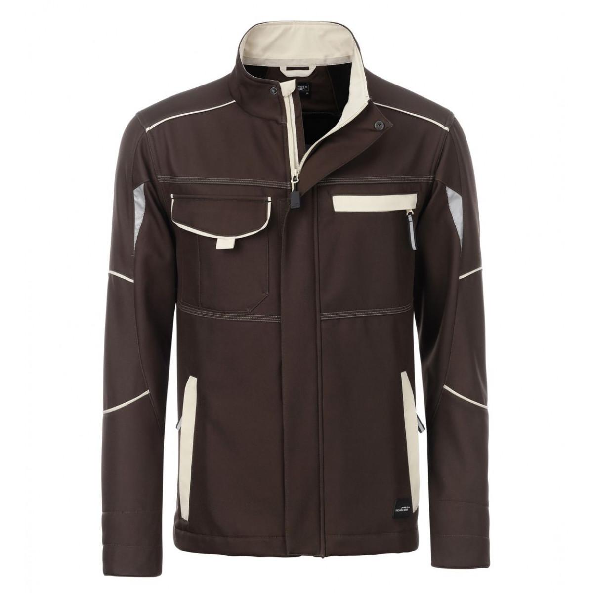 Куртка мужская JN851 Workwear Softshell Jacket-Level 2 - Коричневый/Бежевый