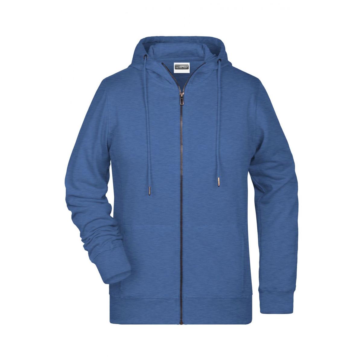 Толстовка женская 8025 Ladies Zip Hoody - Светло-синий меланж