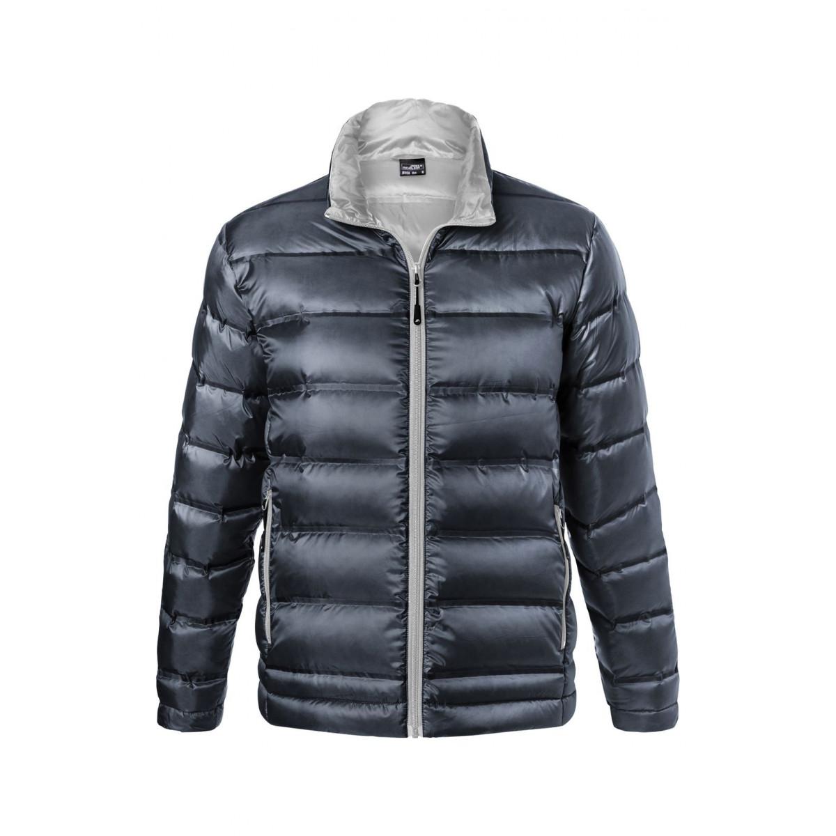 Куртка мужская JN1150 Mens Down Jacket - Темно-синий/Серебряный