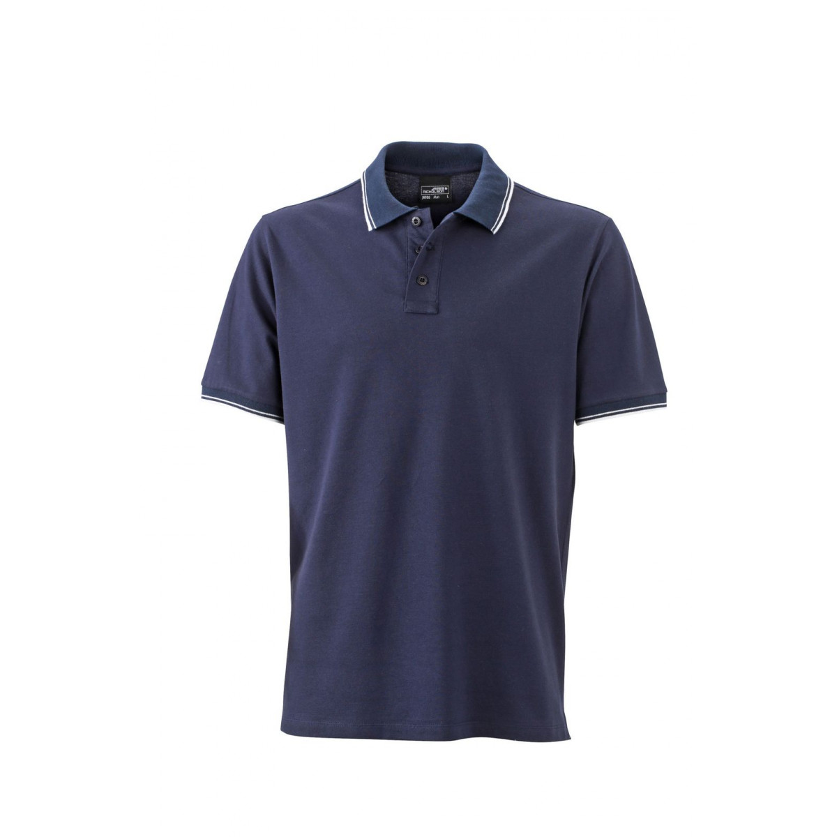 Рубашка поло мужская JN986 Mens Polo - Темно-синий/Белый