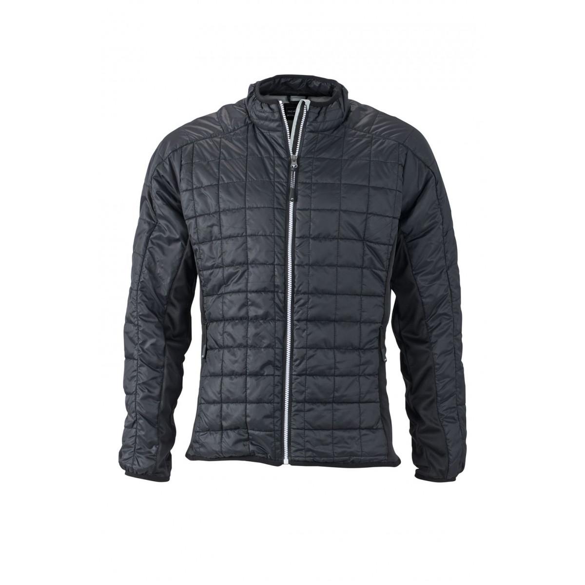 Куртка мужская JN1116 Mens Hybrid Jacket - Черный/Серебряный