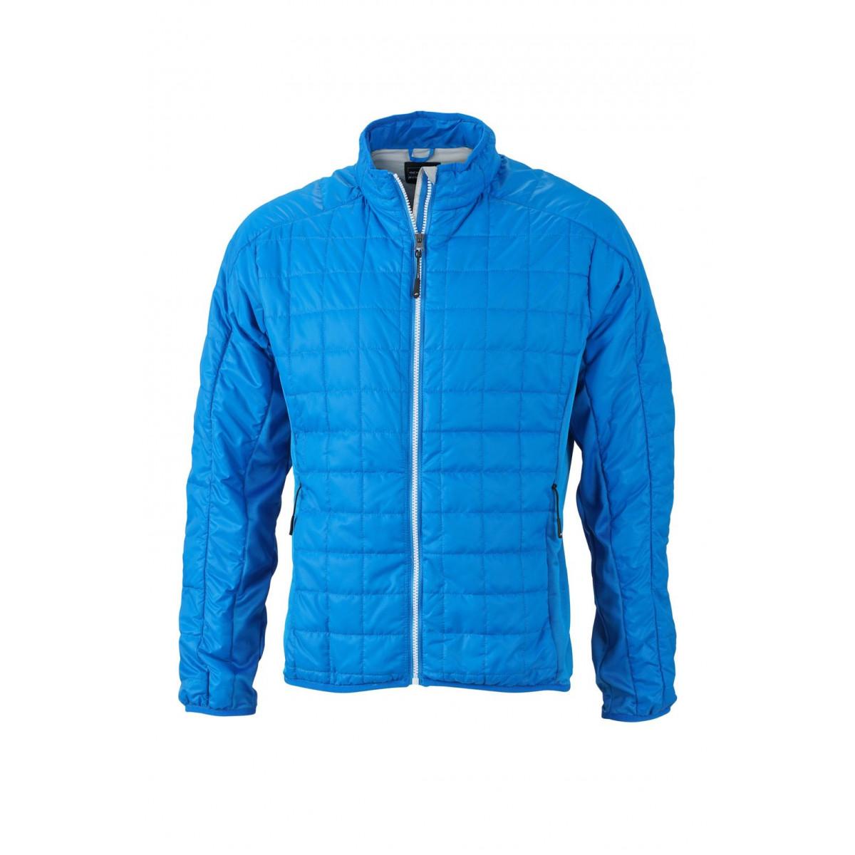 Куртка мужская JN1116 Mens Hybrid Jacket - Кобальт/Серебряный