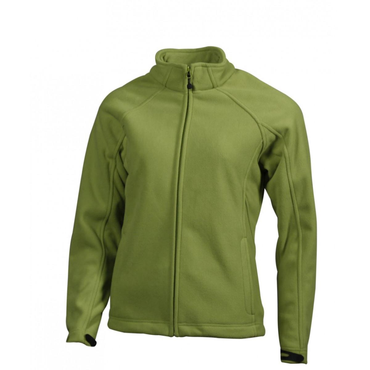 Толстовка женская JN1007 Ladies  Bonded Fleece Jacket - Насыщенный зеленый/Темно-синий
