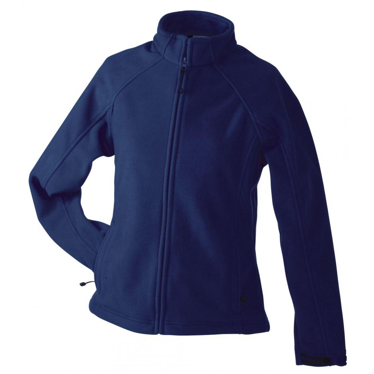 Толстовка женская JN1007 Ladies  Bonded Fleece Jacket - Темно-синий/Красный