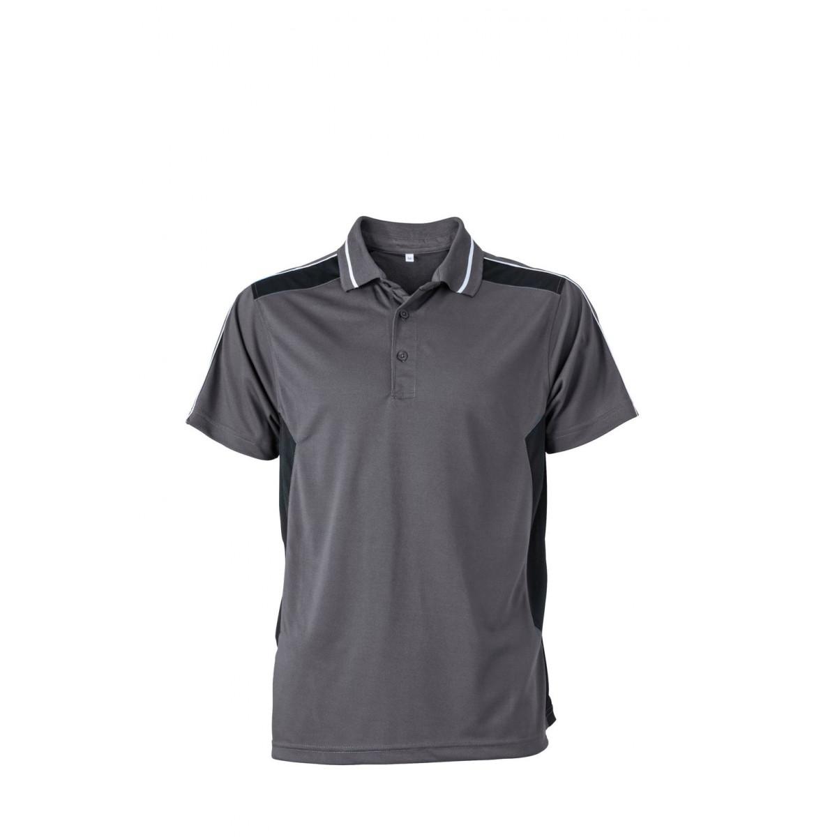 Рубашка поло мужская JN828 Craftsmen Poloshirt - Карбон/Черный