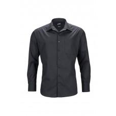 Рубашка мужская JN642 Men's Business Shirt Longsleeve - Черный