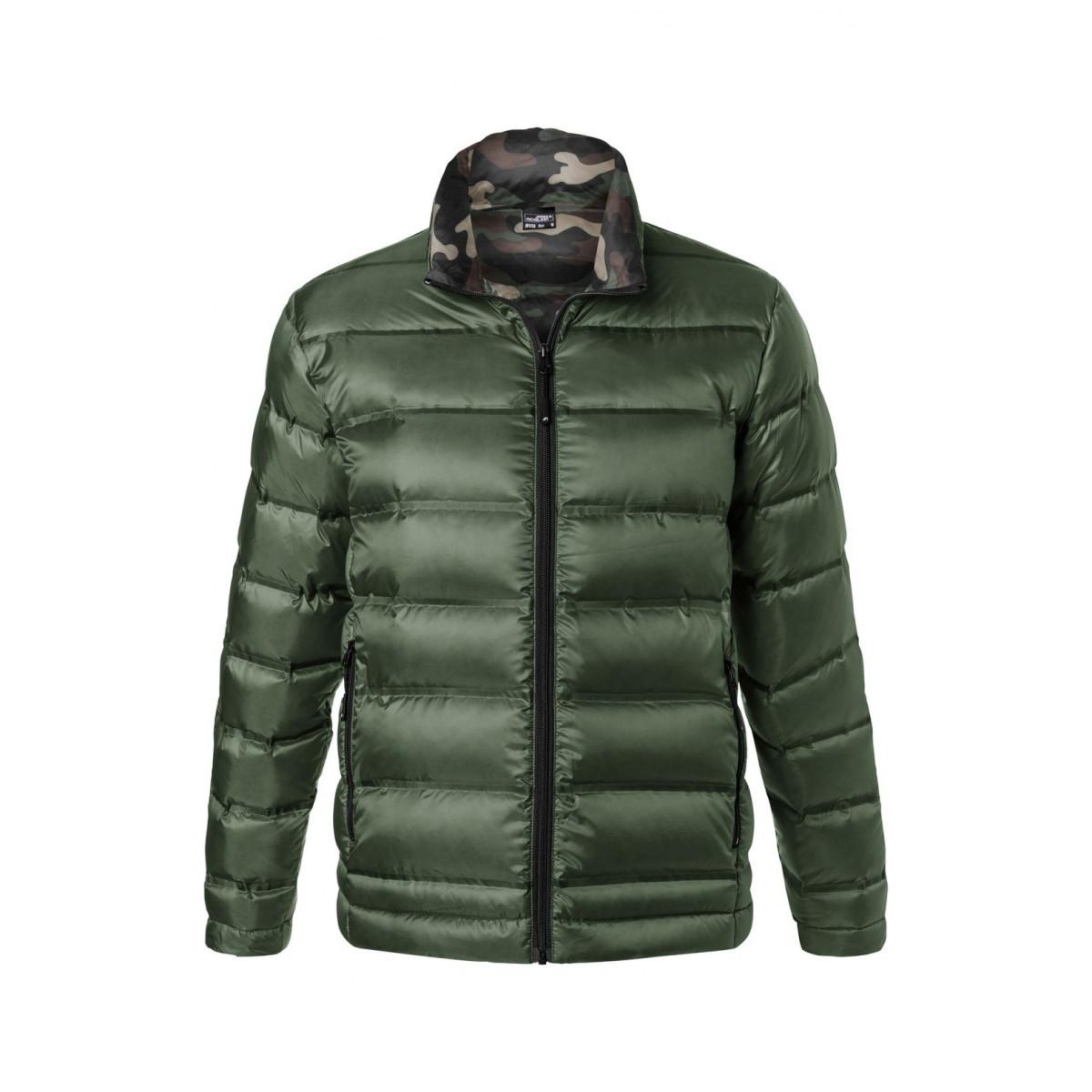 Куртка мужская JN1150 Mens Down Jacket - Оливковый/Камуфляж