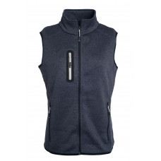 Жилет женский JN773 Ladies' Knitted Fleece Vest - Темно-серый меланж/Серебряный