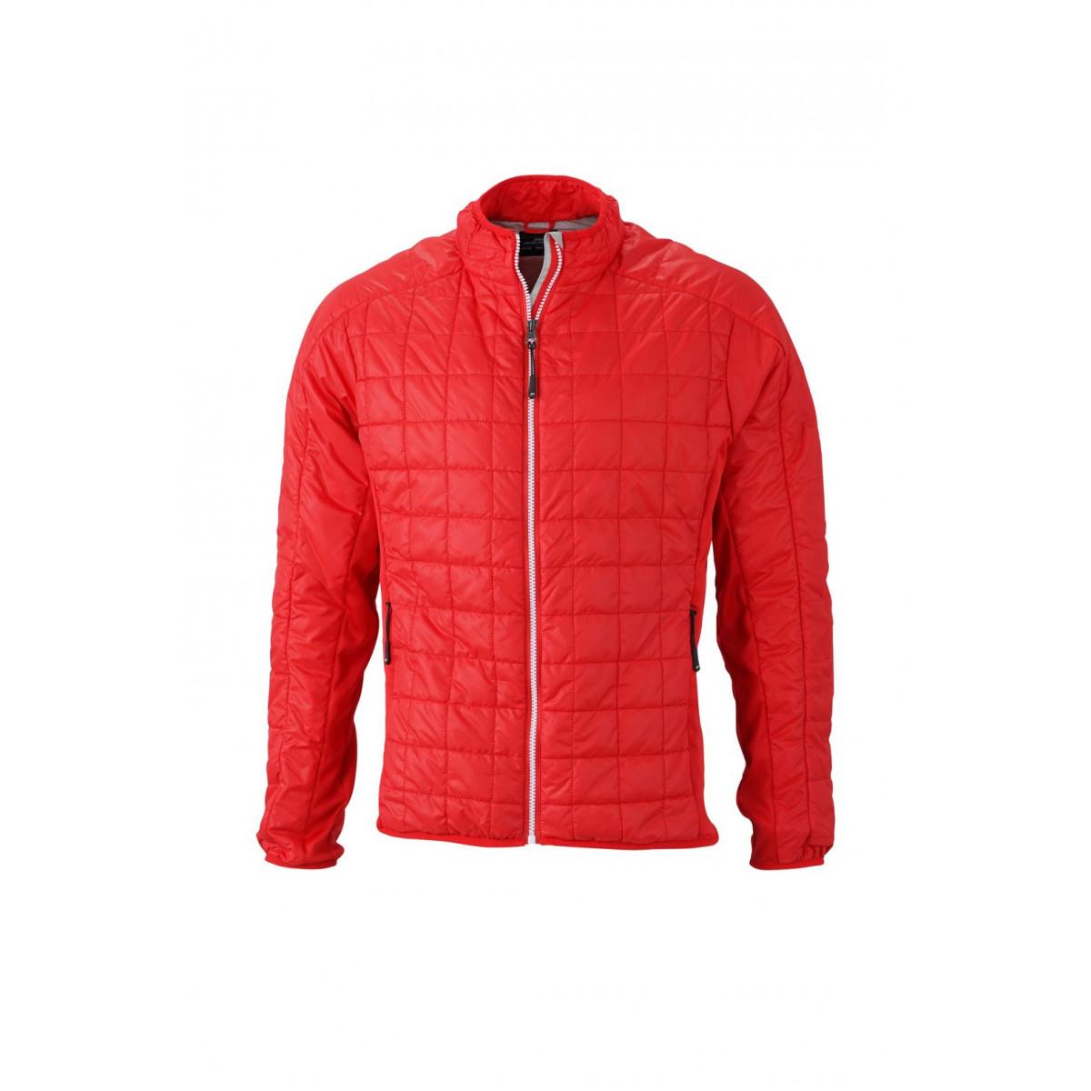 Куртка мужская JN1116 Mens Hybrid Jacket - Светло-красный/Серебряный