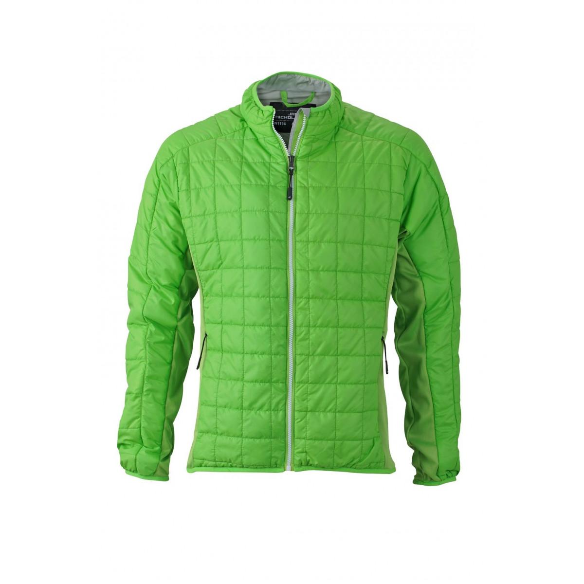 Куртка мужская JN1116 Mens Hybrid Jacket - Насыщенный зеленый/Серебряный