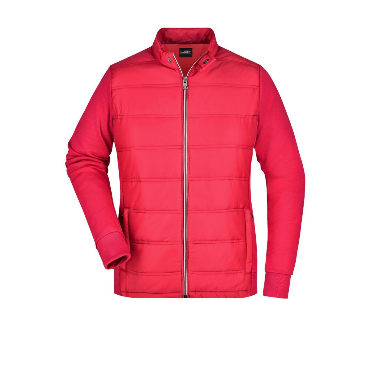Толстовка женская JN1123 Ladies Hybrid Sweat Jacket - Светло-красный