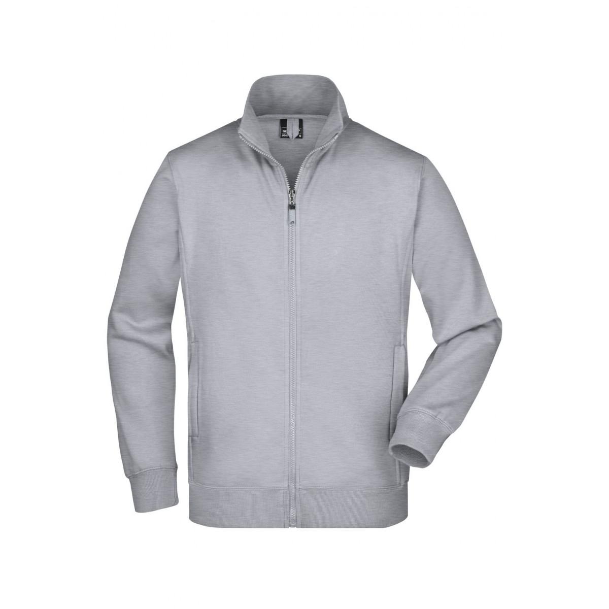Толстовка мужская JN046 Mens Jacket - Серый меланж