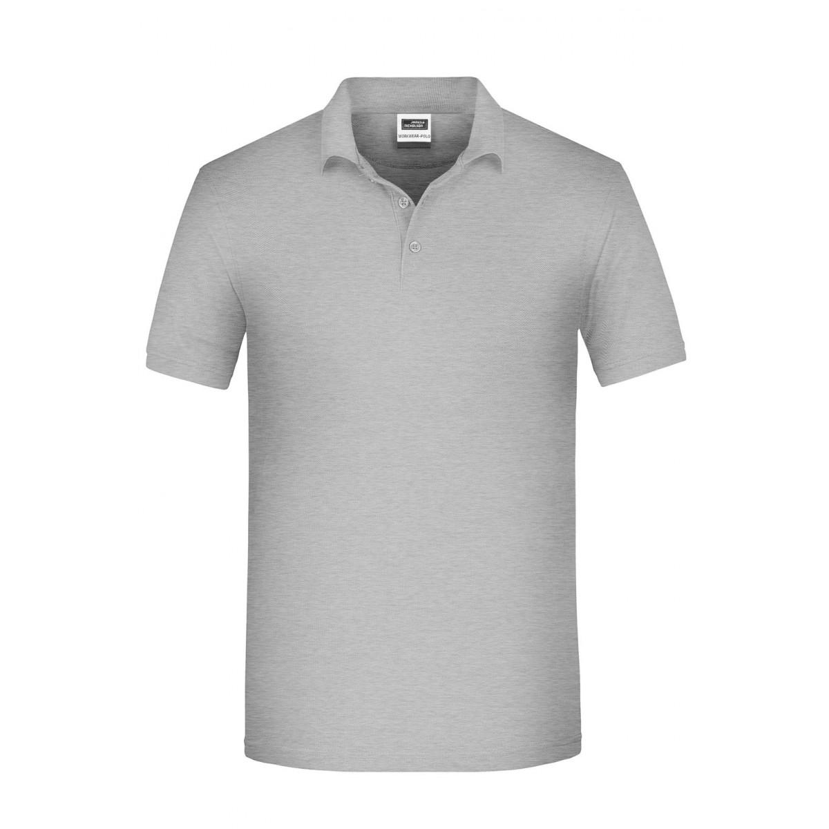Рубашка поло мужская JN874 Mens BIO Workwear Polo - Серый меланж