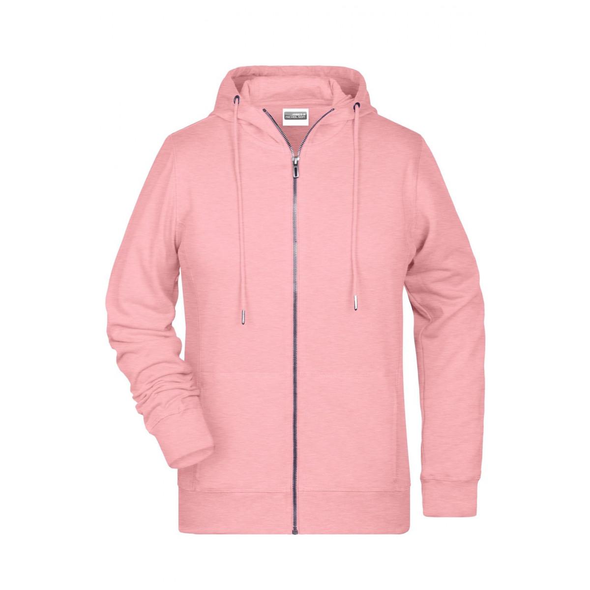 Толстовка женская 8025 Ladies Zip Hoody - Нежно-розовый
