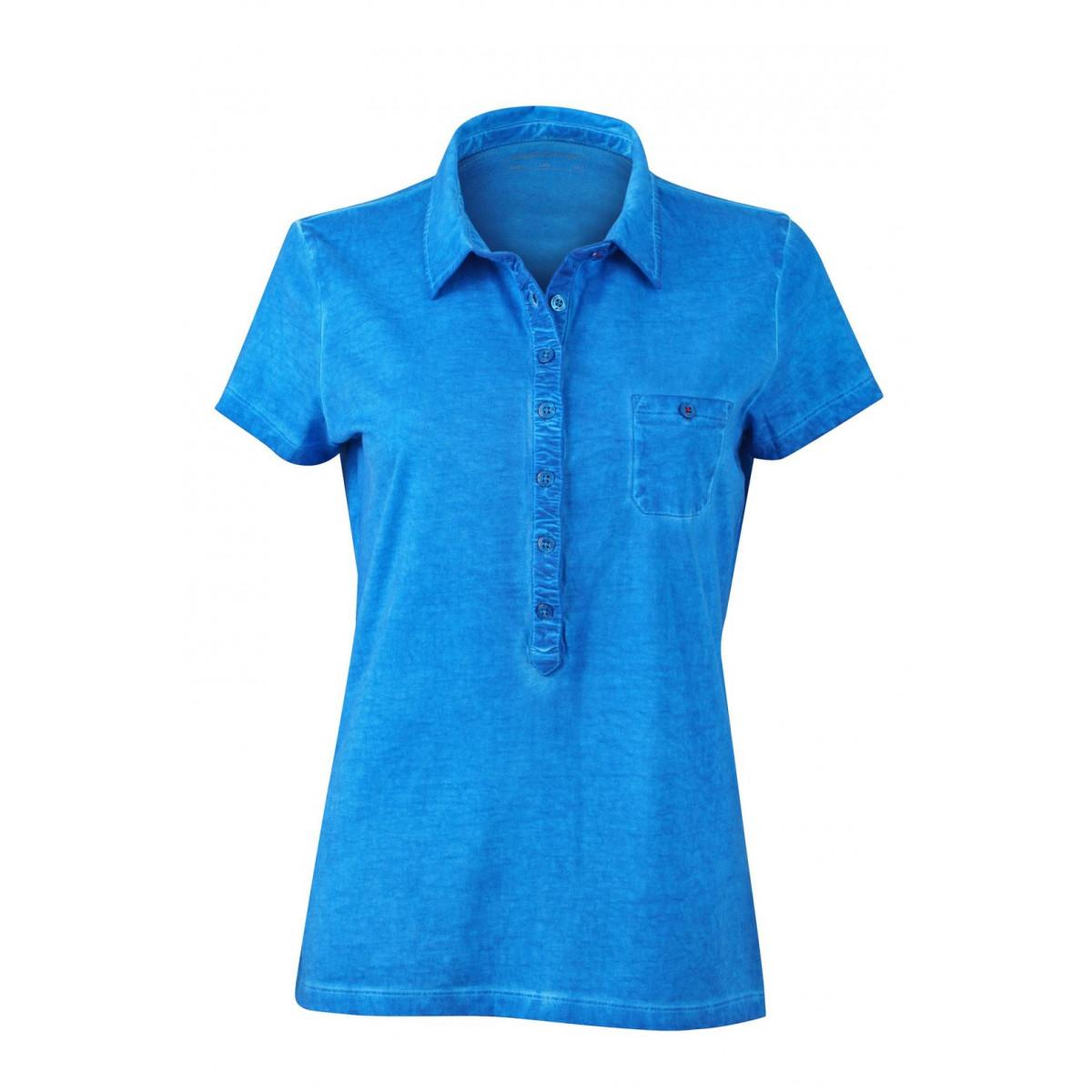 Рубашка поло женская JN987 Ladies Gipsy Polo - Ярко-синий
