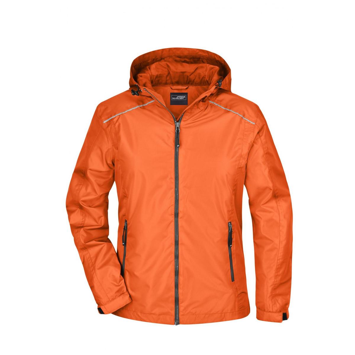 Куртка женская JN1117 Ladies Rain Jacket - Оранжевый/Темно-серый