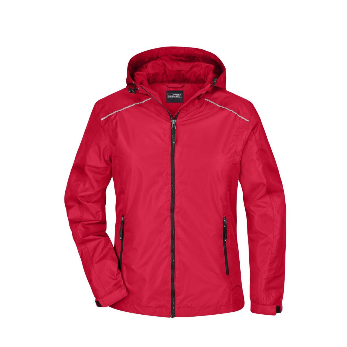 Куртка женская JN1117 Ladies Rain Jacket - Красный/Черный
