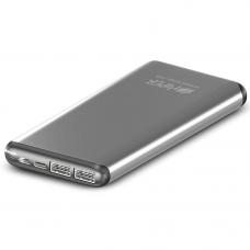 Аккумулятор HIPER Внешний аккумулятор HIPER MS10000 Li-Pol 10000 mAh Aluminum 3A+2.4A 2xUSB 1xType-C серебристый
