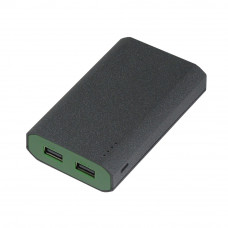 Внешний аккумулятор, Stone Island PB, 7800 mAh, т.-серый/зеленый,  подарочная упаковка