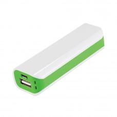 Внешний аккумулятор, Aster PB, 2000 mAh, белый/зеленый, подарочная упаковка с блистером